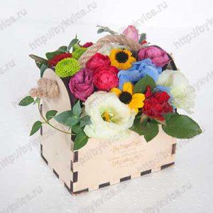 Коробки для цветов из дерева